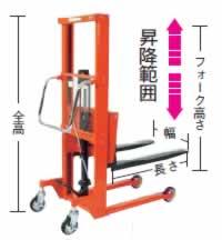 足踏油圧リフター(大車輪ロングフォーク)M227EN-H300-9B