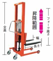 足踏油圧リフター(大車輪)M227EN-H400-9B