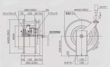 フォークリフト用充電コードリール/品番 M486C-5シリーズ