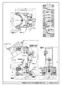 防爆型ドラム缶デジタル計量器付反転リフター/M20ML1100-SHT-1