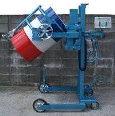 防爆型ドラム缶デジタル計量器付反転リフター/M20ML1100-SHT-3