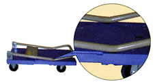 ブレーキ付樹脂製微音台車/ME20SK-301BN-3
